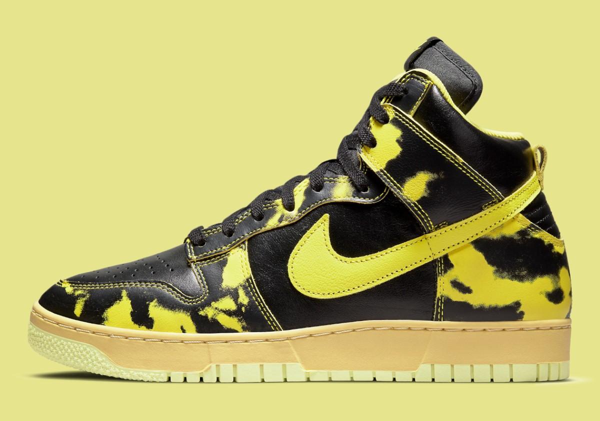 "Nike Dunk High 1985 ""Yellow Acid Wash"""